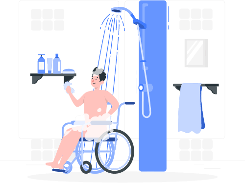 Siiting-Disability-Person-who-showered